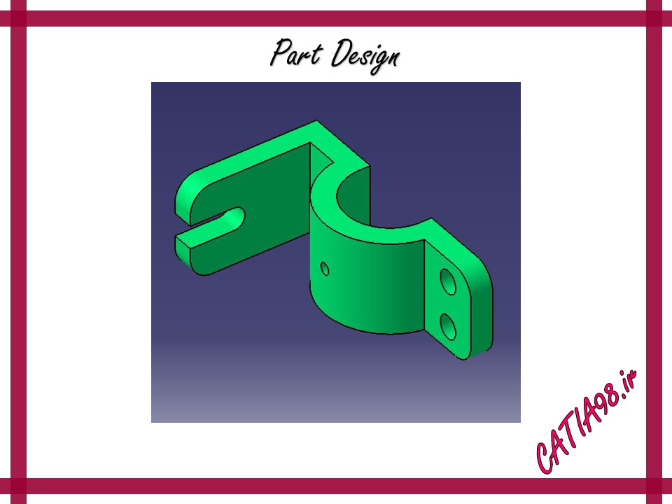 Part Design No.12 - مجموعه تمرین های محیط Part Design