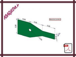 Slide11 300x225 - فایل آموزشی یازدهم: تحلیل یک ورق با شرایط تنش صفحه ای (Plane Stress Analysis)
