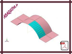 Slide8 300x225 - فایل آموزشی هشتم: تحلیل پوسته با هندسه غیرخطی (Geometric Nonlinearity)