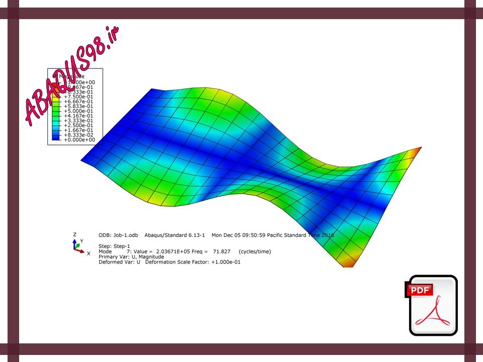 فایل های آموزش ABAQUS - بررسی فرکانس های طبیعی و مود شیپ ها در یک ورق