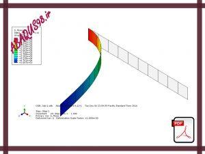 Slide10 300x225 - فایل آموزشی دهم: بررسی تغییر شکل بزرگ در تیر تحت خمش (Large Deformation Analysis)