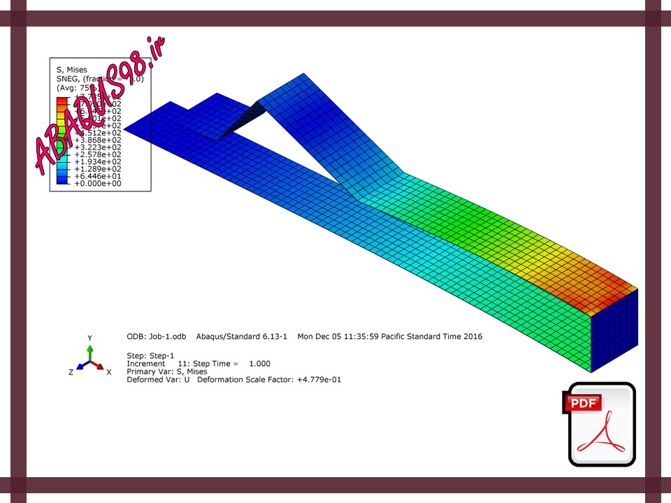 فایل های آموزش ABAQUS - تحلیل یک مسئله با شرایط تماسی (Contact Analysis)